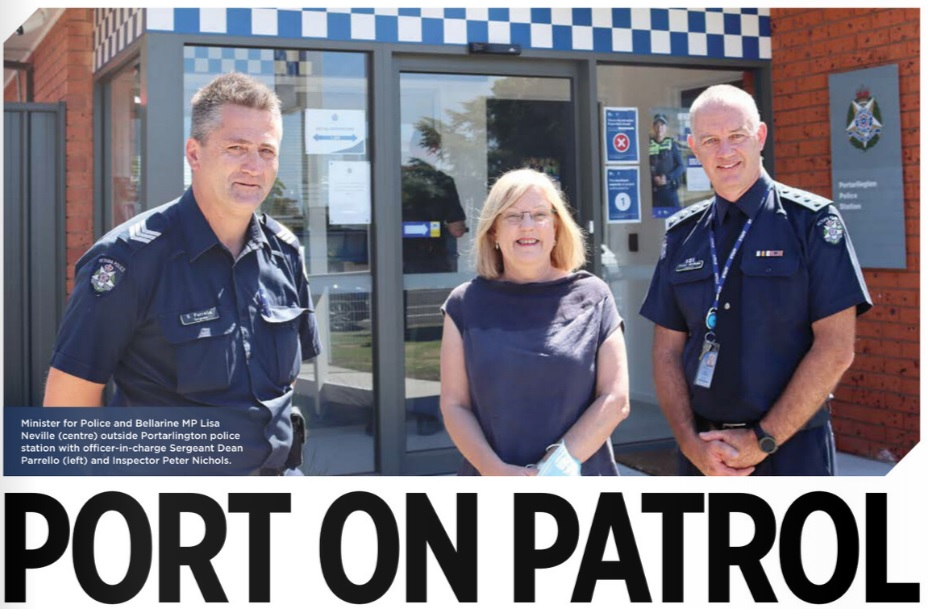 Minister for Police and Bellarine MP Lisa Neville officially opened the refurbished Portarlington Police station on Newcombe Street on Friday last week.